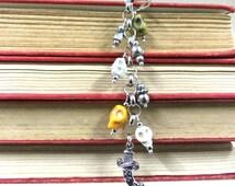 Skull and Sword Bookmark, Pirate Bookmark, Skull Bookmark, Fairytale Bookmark, Silver Bookmark, Metal Bookmark, Student Gift, Readers Gift
