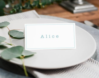 Personalized Printable Place Cards Placecards Name Cards Typewriter Quirky Customizable