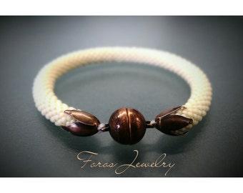 """Bead Crochet Bracelet """"Margaritari"""" (Elegant Bracelet, Beaded Bracelet)"""
