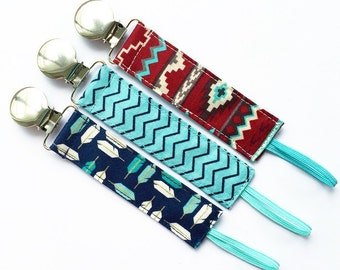 Pacifier Clips - Levi Collection