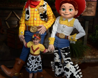 YODELAHEEHOO - Girls Jessie Dress - Cowgirl Dress - Peasant Dress - Little Girl - Toy Story Dress - Toddler - Children Clothing
