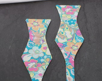Handmade bow tie colorful floral self tie freestyle classic pattern cotton bowtie
