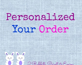 Personalized Your Order - Customized a Listing
