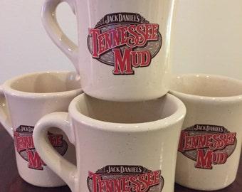 Jack Daniel's Tennessee Mud Mugs - Set of 4