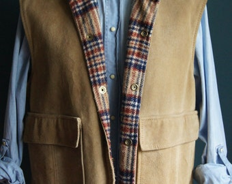 Wellington Vest Suede Leather Made in USA