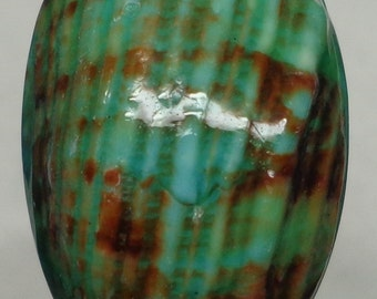Green Talembu Shell Cabochon backed with Mother of Pearl 30mm x 20mm x 8mm