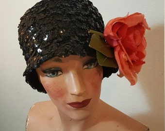 FREE  SHIPPING  1950  Sequin  Hat
