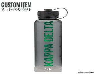 KD Kappa Delta Simple Water Bottle Sorority