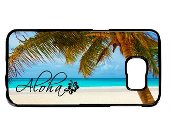 Aloha Hawaii Hawaiian Beach Black Or White Hard case Cover for Samsung Galaxy S8 S7 S6 Edge Plus S5 S4 S3 Note 5 4 3 2 iPod touch 4 5 6 Case
