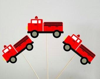 Firetruck Centerpieces