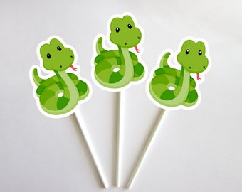 Snake Cupcake Toppers