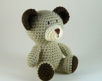 Amigurumi Bear, Little Bear, Crochet Teddy Bear, Crochet Toy Bear, Baby Bear, Plush Bear, Bear Softie, Mini Amigurumi, Brown Bear, Baby Toy