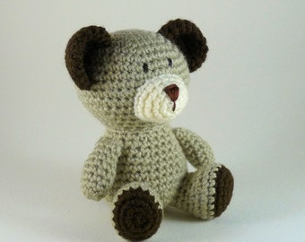 Amigurumi Bear, Little Bear, Crochet Teddy Bear, Baby Bear, Plush Bear, Mini Amigurumi, Brown Bear, Baby Toy