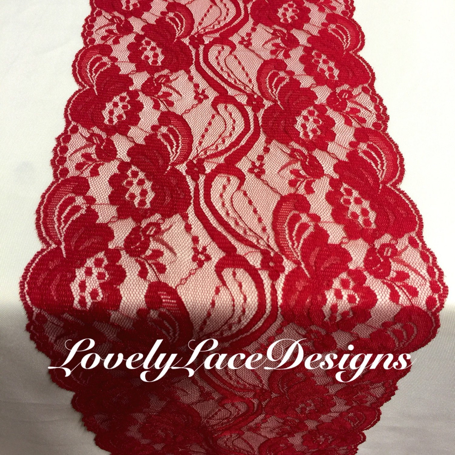 Red weddingsred lace table runner 12ft 20ft by for 12 foot table runner