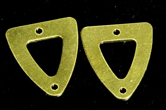 250 pcs 13.5x15.5 mm raw brass triangle tag 2 hole raw brass connector charms ,raw brass findings 1331RM