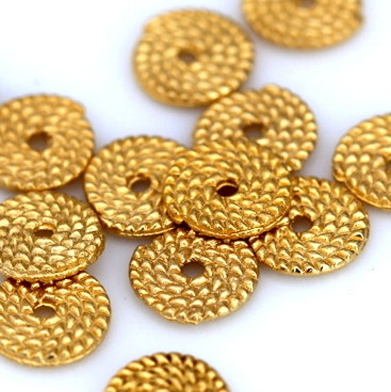 10 pcs 11 mm (1.8 mm hole) gold plated alloy finding charm pendant 897
