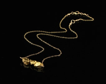 Natural Gold Pyrite Nuggets on 14Kt Gold Filled Chain