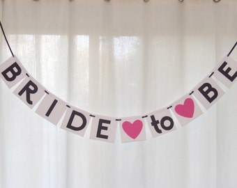 Bride to Be Banner - bridal shower banner- from miss to mrs- Wedding Banner - Shower Banner- engagement party banner