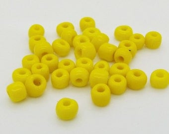 25g Opaque Yellow Glass Seed Beads 4mm Size 6/0 25g Jewellery Making Value Pack NEW