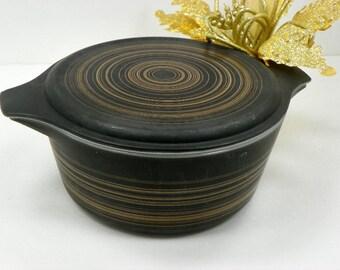 Contemporary Casserole Bakeware Pyrex Terra 475 Black Bakeware with Lid