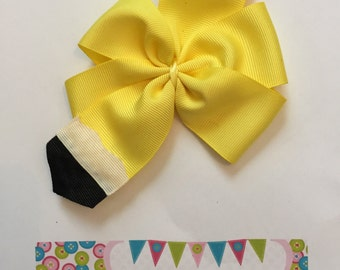 Pencil Back to School Hair Bow