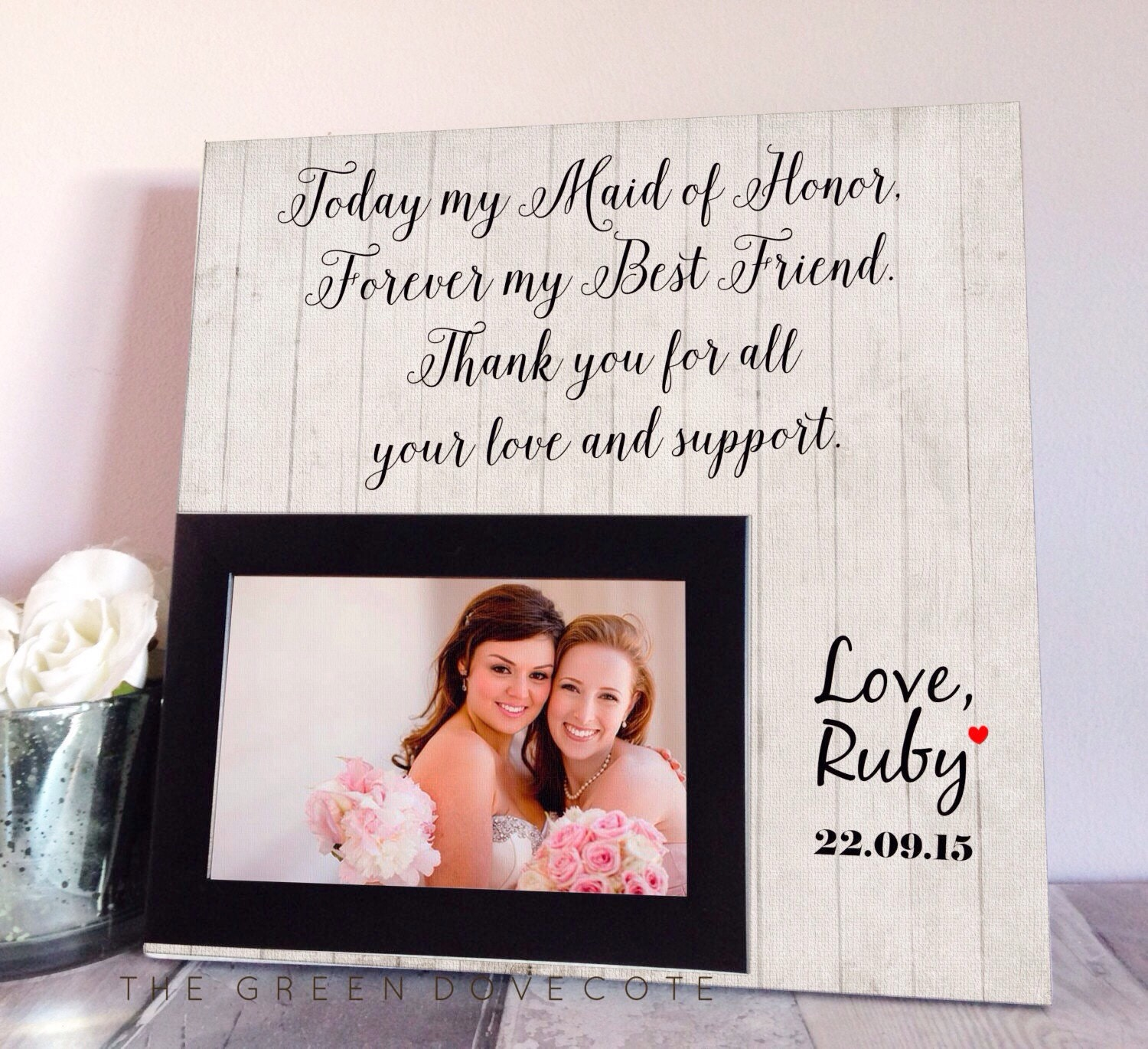 Wedding Gift For Bride From Maid Of Honor : Sister Wedding Gift Maid Of Honor Gift by TheGreenDovecote