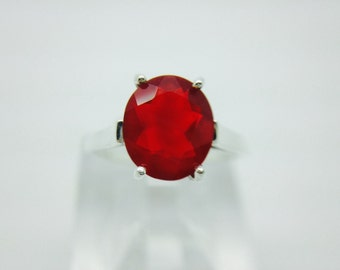 Cherry Fire Opal on sterling silver Ring (item1910-b)