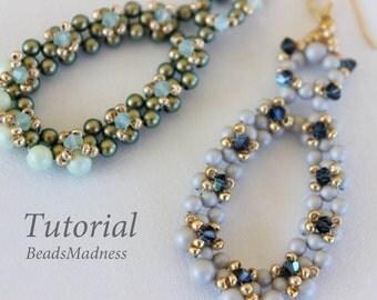 PDF tutorial_beaded earrings_Swarovski crystals_beadweaving