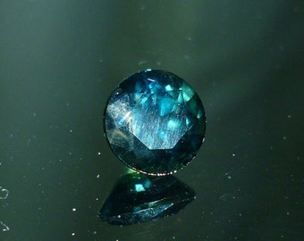 Sapphire, Beautiful Blue Australian Sapphire 6.2 mm Round Loose Gemstone Engagement Ring September Birthstone