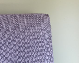 SALE - Fitted Crib Sheet - Purple Lattice - Purple, Lilac and White - Ready to ship!