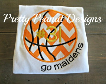 Boy Black & Gold Basketball Shirt or Onesie - made to match your team! - Basketball Outfit