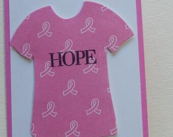 Breast Cancer Hope T-Shirt Card