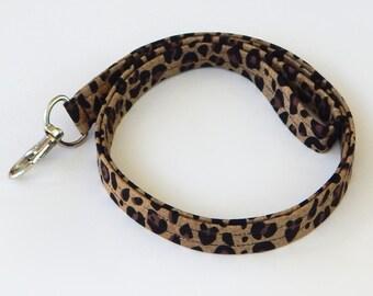 Leopard Print Lanyard / Leopard Keychain / Animal Print / Key Lanyard / ID Badge Holder / Badge Lanyard / Fabric Lanyard