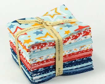 SALE!! 25% Off! Lucky Star Fat Quarter Bundle - by Zoe Pearn For Riley Blake Fabrics