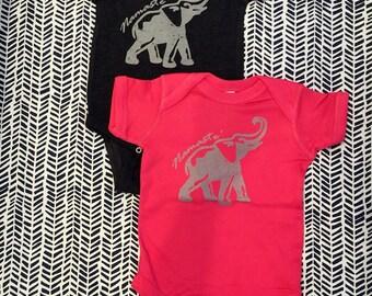 NEW! Namaste, Elephant- Vintage Vibe Onesie, Baby Yoga, Bodysuit, Yogini, Yoga Gift, Boy or Girl