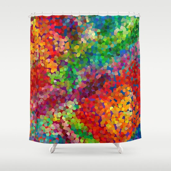 shower curtain abstract art beautiful color by