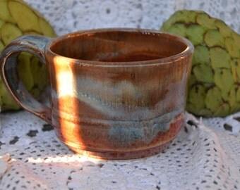 Stunning 13 oz ceramic  coffee mug! pottery mug