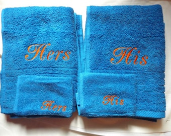 Towels His & Hers / Aniversary / Wedding / Engagements