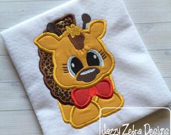 Giraffe 105 Appliqué Embroidery Design