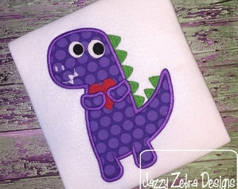 Dinosaur with Valentine Appliqué Design