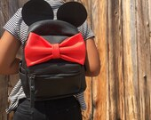 Mini-Backpack Purse (Red Bow)