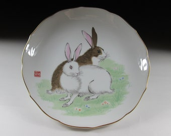 Fukagawa Porcelain Year of the Rabbit Plate