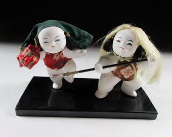 Old Vintage Dolls with Shishi-Gashira