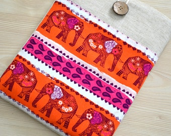 custom made to fit 17 inch laptop macbook sleeve, 17 inch LaptopSleeve - Macbook Pro, Laptop Cover, Padded Sleeve Case- Elephants
