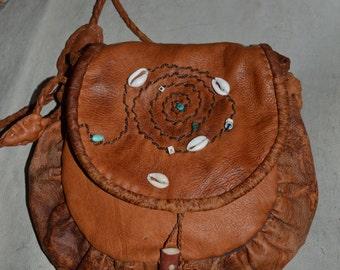 Primitive bag.Reindeer leather , shoulder bag.