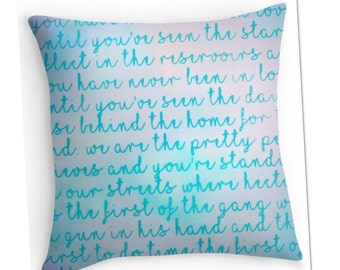 Morrissey Song Lyric Cushion.