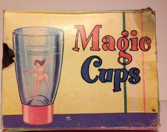 Vintage Magic Cups Pinup Nude Novelty Souvenir. RARE. Original Box 1950's