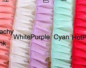 2 yards Lovely Tulle Lace Trims Ruffled Lace 1.96 Inches Wide 9 colors