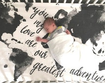 Unique Map Bedding Related Items Etsy