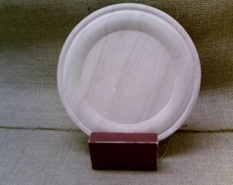 "8"" WOODEN CHARGER PLATE"